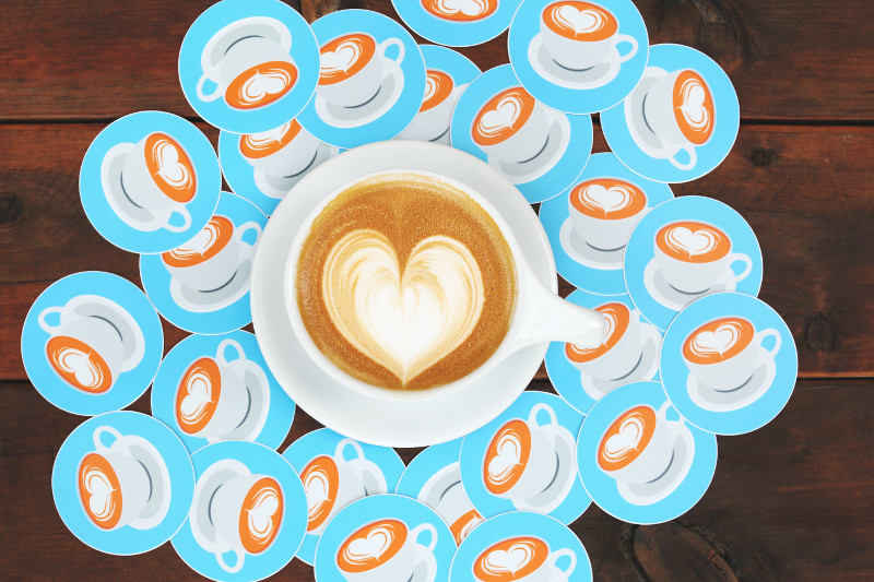 Стилизирана чаша кафе