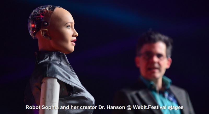 Роботът София и нейният създател